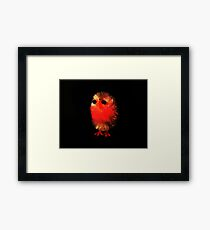 TINY PINK CHICK Framed Print