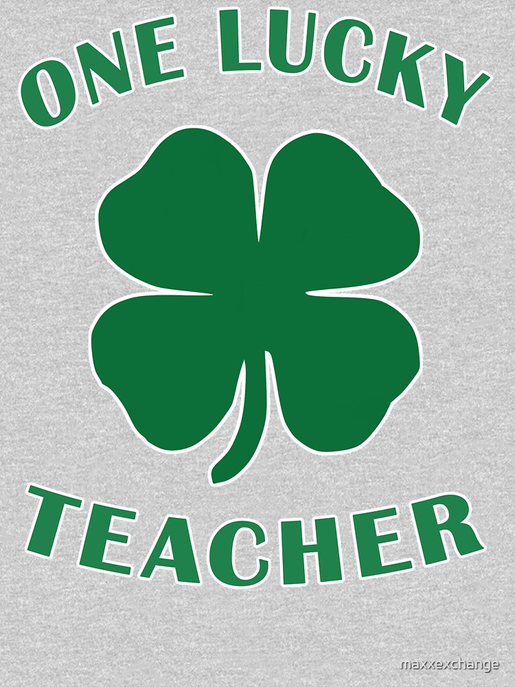 Lucky Teacher St Patrick Day Irish Shamrock gift. by maxxexchange