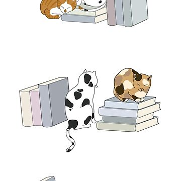 Cats Love Books by PuddingCreative
