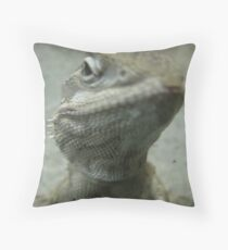 I see you focussing on my scaly beard... it's all mine you know! Throw Pillow