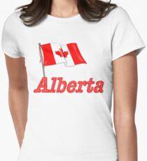 Canada Waving Flag - Alberta Women's Fitted T-Shirt