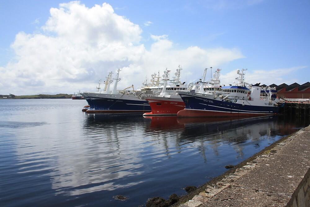 Big Atlantic fishing boat Killybegs Donegal by derek pauley