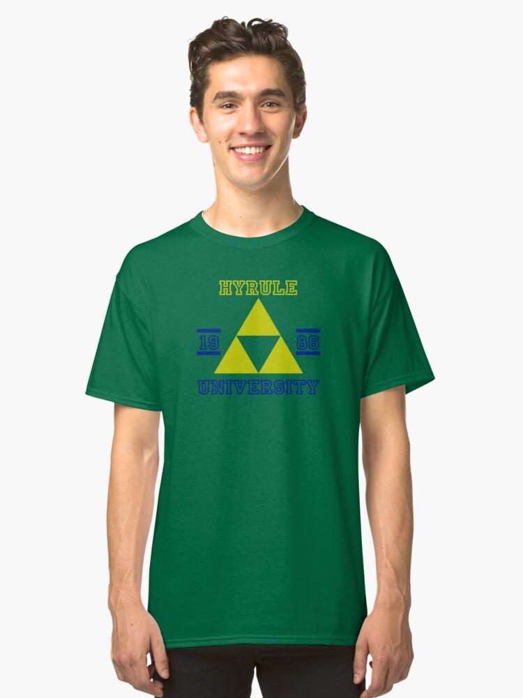 T-shirt classique ''HYRULE UNIVERSITY bleu': autre vue