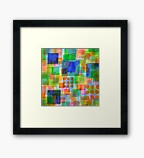 Playful Squares Framed Print