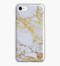 Awesome trendy modern faux gold glitter marble iPhone Case/Skin