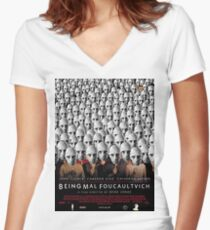 Being Mal Foucaultvich Women's Fitted V-Neck T-Shirt