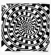 Maze of Vortex Gradient Swirl Poster