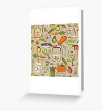 Retro kitchen. Greeting Card