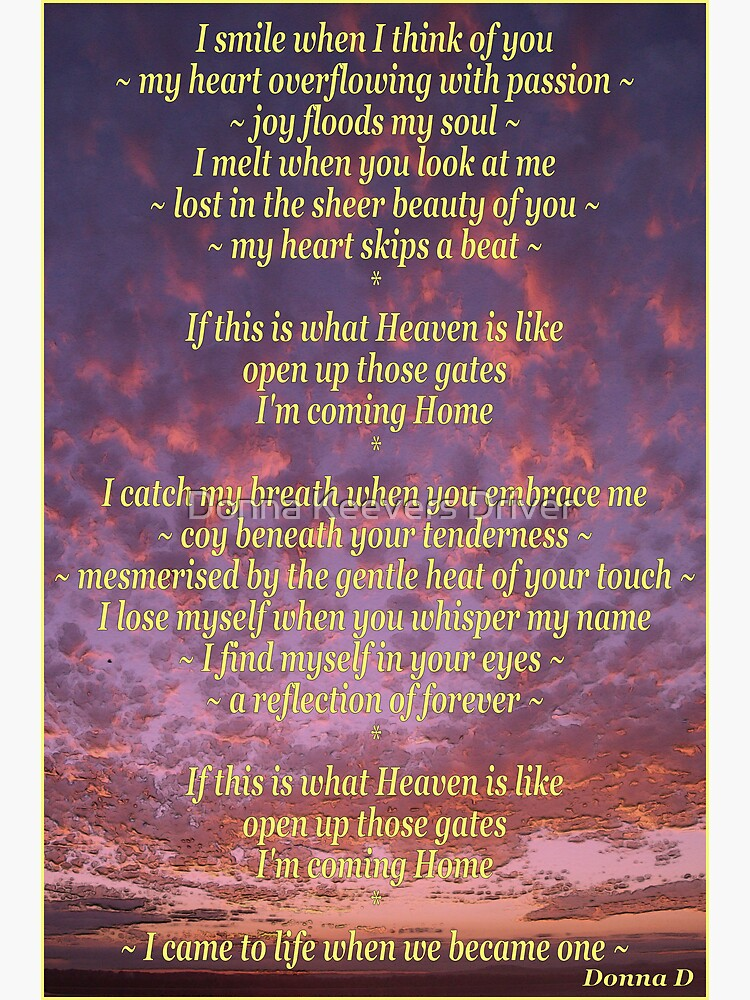 ~ When I think of you ~ | Greeting Card