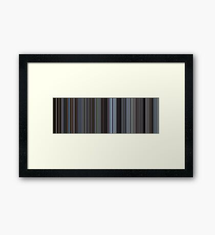 Moviebarcode: Harold and Maude (1971) [Simplified Colors] Framed Print