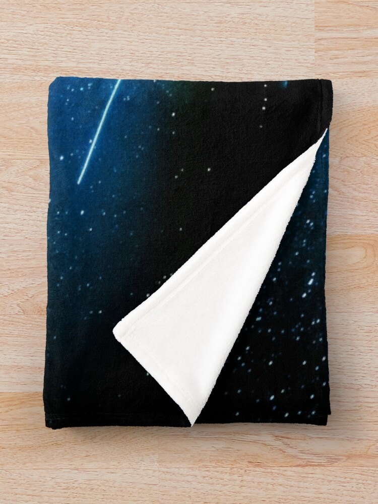 Alternate view of Stars and Space Night Sky - Blue Starry Milky Way in Arizona Throw Blanket