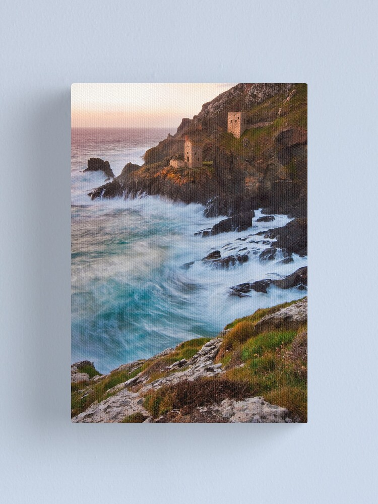 Alternate view of Cornwall: The Crowns Tin Mine Canvas Print