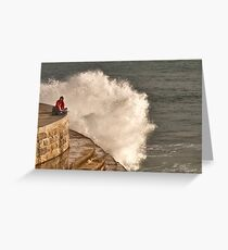 girl and the sea... Greeting Card