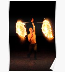 Fire Twirling Poster
