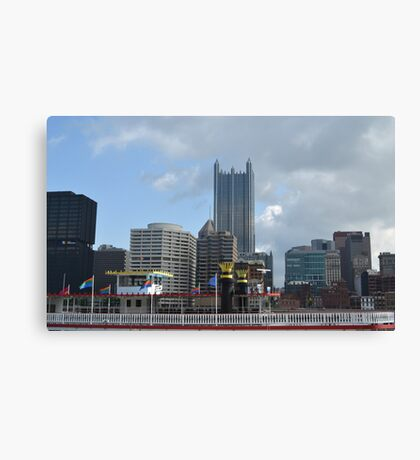Pittsburgh and Gateway Clipper Canvas Print