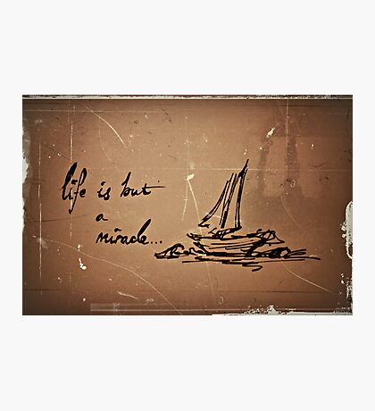 its not always smooth sailing.  Photographic Print