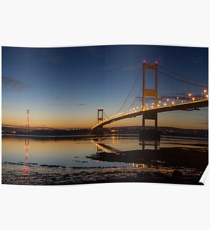 The Severn Bridge - a link to Wales (Aust near Bristol) Poster