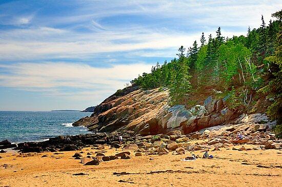 Sand Beach, Acadia National Park, Bar Harbor, Maine by fauselr