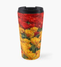 Mass of spring colour - Tulips in London Travel Mug