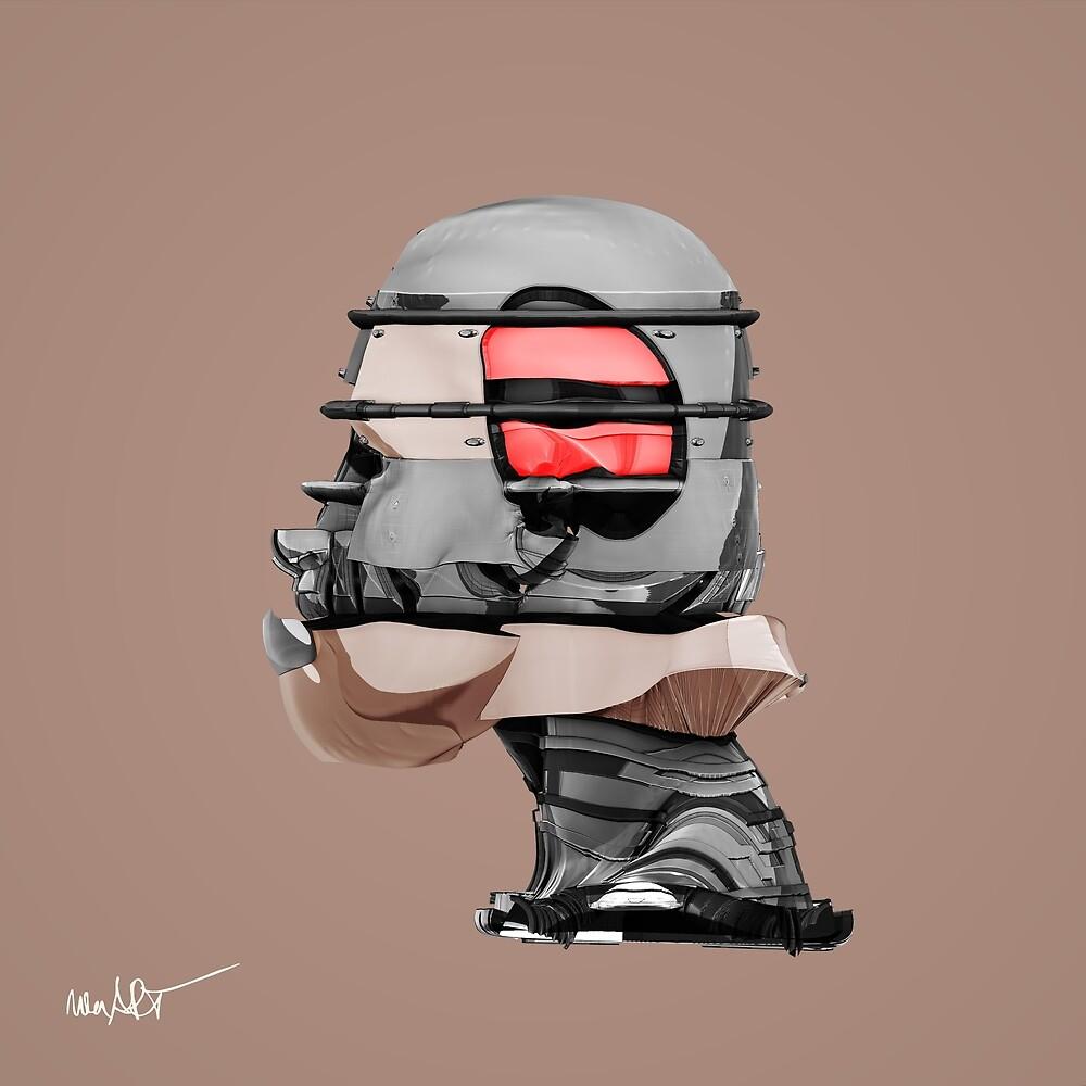 DISPLACEMIND I 12|2016 Skin - Print (Cyberpunk Displacement 3D-Render Digital Art) von nenART-Official