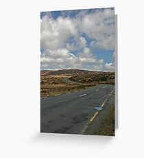 Road to Glenveagh national park Greeting Card