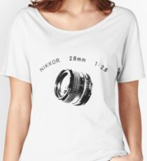 Nikkor 28mm Black Women's Relaxed Fit T-Shirt