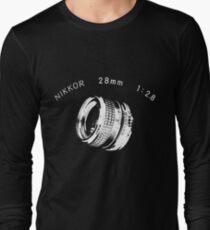 Nikkor 28mm White Long Sleeve T-Shirt