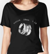 Nikkor 28mm White Women's Relaxed Fit T-Shirt