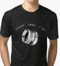 Nikkor 28mm White Tri-blend T-Shirt