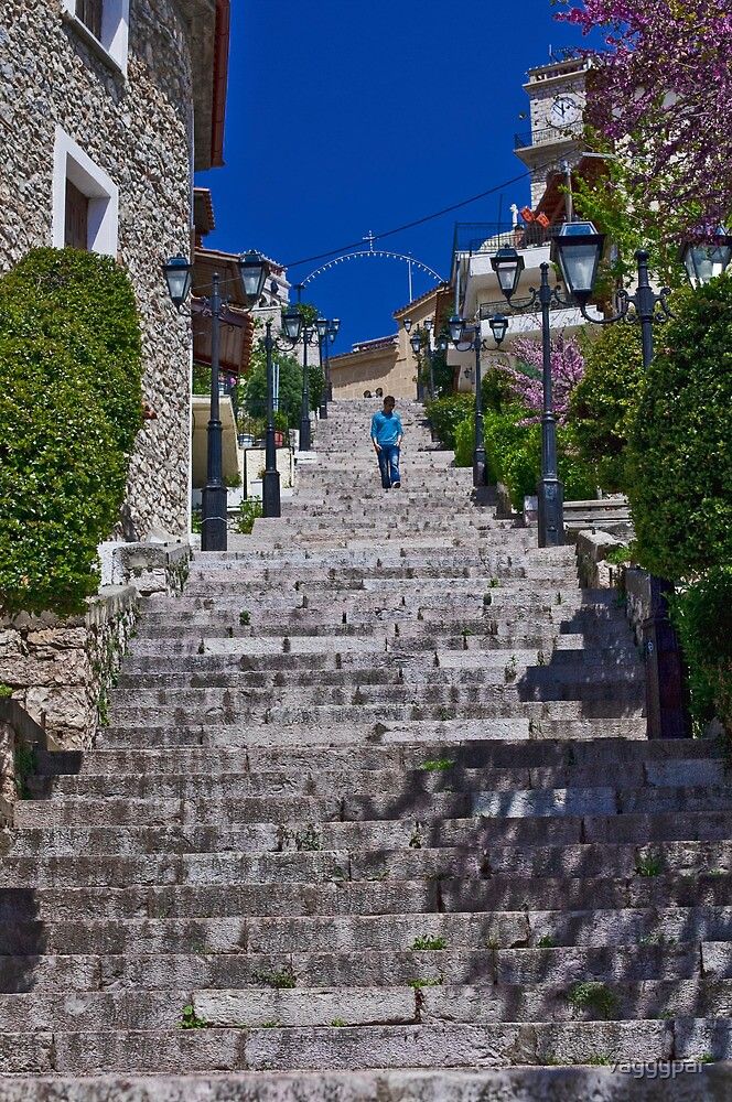 250 STEPS TO THE CHURCH ....! by vaggypar