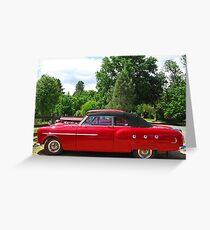 Packard #9 - 1951 Convertible Greeting Card