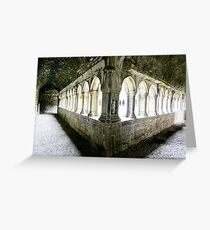 The Cloister - Askeaton Friary Greeting Card