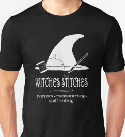 Witches Stitches - White Design T-Shirt