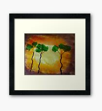 More funny trees, watercolor Framed Print