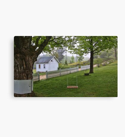 Rural Maine -- Dirt Roads and White Picket Fences Canvas Print