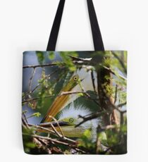 Great White Egret Mother with Baby Tote Bag