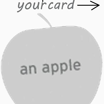 an apple by vonlutzow