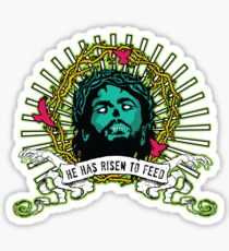 He Has Risen to Feed Sticker