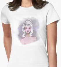 The White Girl Womens Fitted T-Shirt