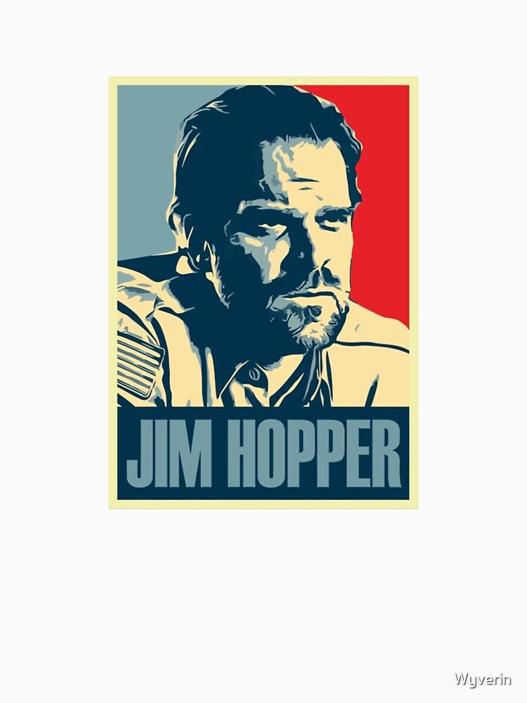 Jim Hopper Old School Stranger Things by Wyverin