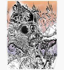 Monsteroso Comic book pen drawing 1 Poster