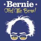 Bernie Hair Shirt with Flaming Sunglasses - Feel The Bern by Andrew Hart