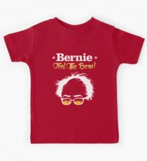 Bernie Hair Shirt with Flaming Sunglasses - Feel The Bern Kids T-Shirt