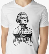 Jefferson Is My Homeboy Men's V-Neck T-Shirt