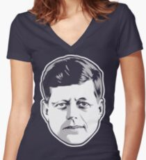 JFK Women's Fitted V-Neck T-Shirt