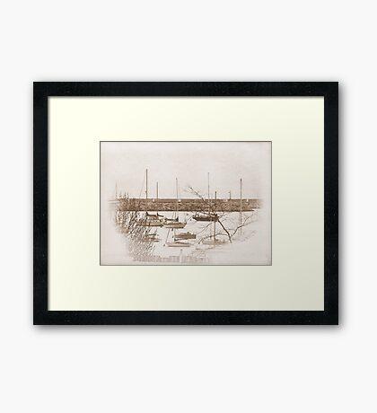Lake Michigan Dock ©  Framed Print