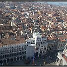 Piazza San Marco from above Venice by grorr76