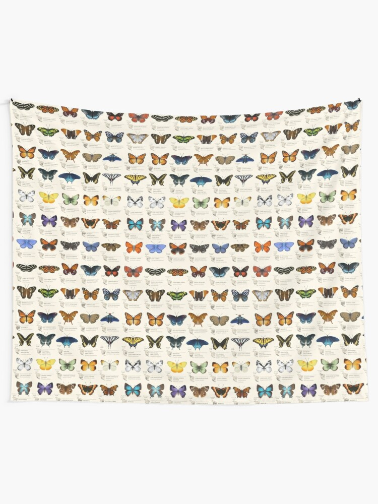 Alternate view of Butterflies of North America Tapestry