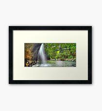 Refreshing Waterfall Framed Print