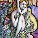 Girl Wrapped in Blanket by Deborah Conroy
